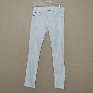26 Rag & Bone Rebel White Destroyed Skinny Jeans